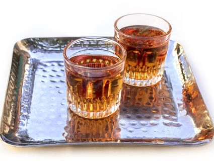 2 glasses of pacharan