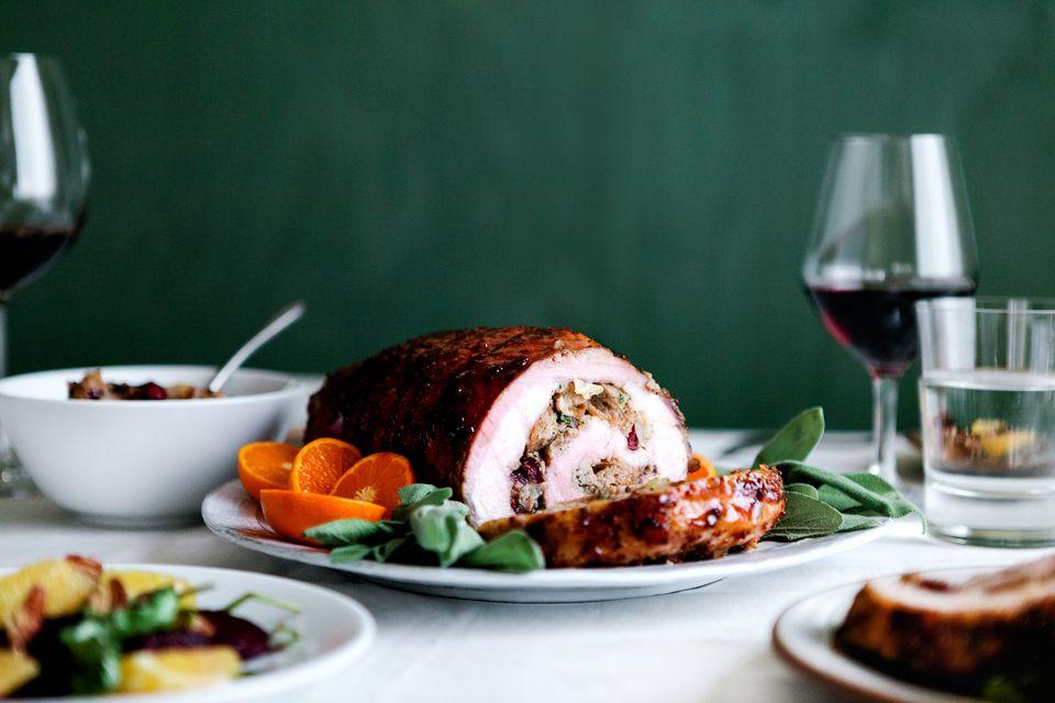 Stuffed pork for Thanksgiving