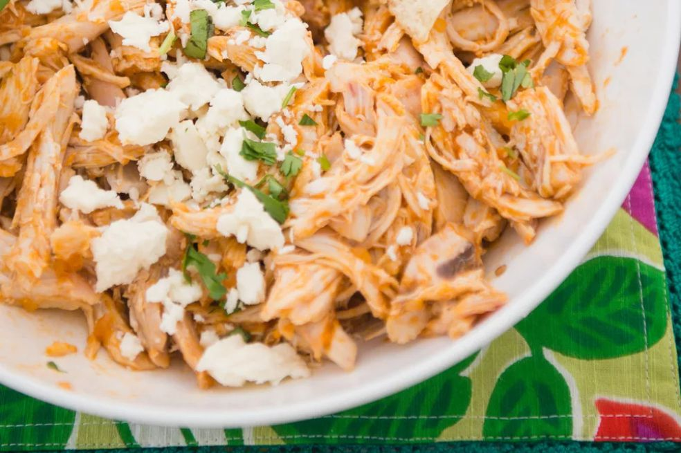 Crockpot Buffalo Chicken and Rice