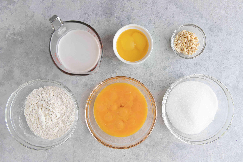 Ingredients for bebinca layered goan