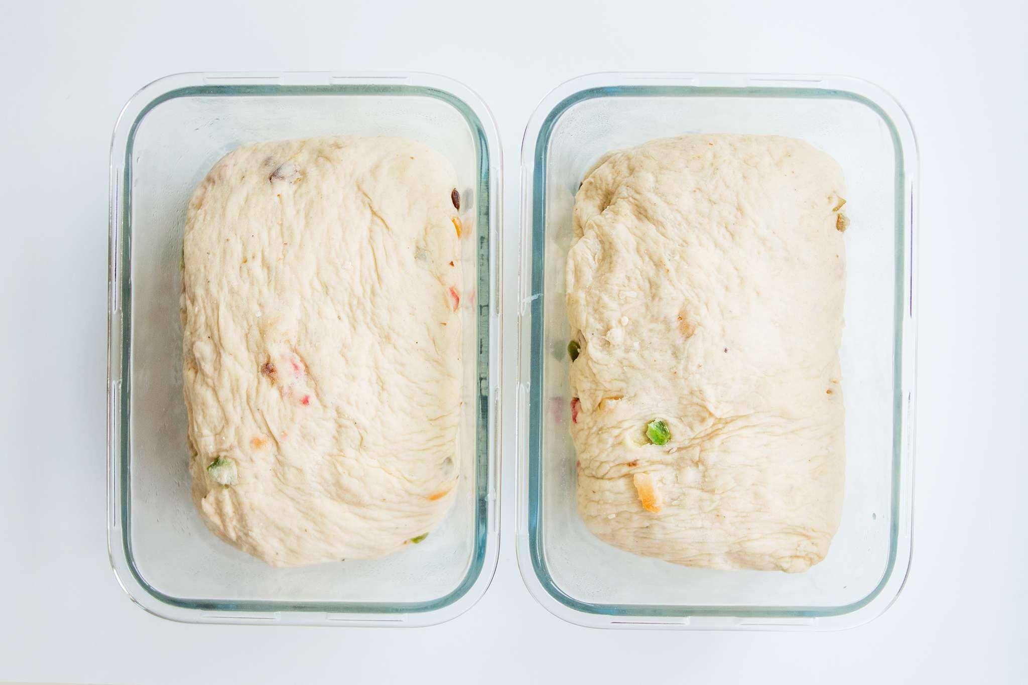 Put dough into loaf pans