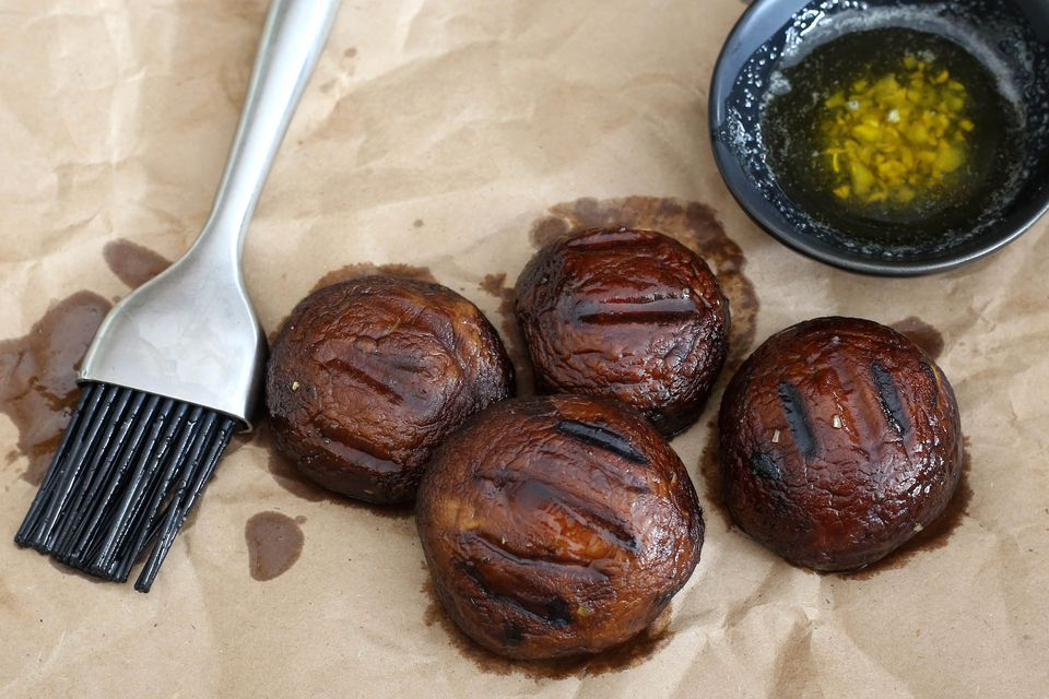 Grilled Portobello Mushrooms With Garlic Butter