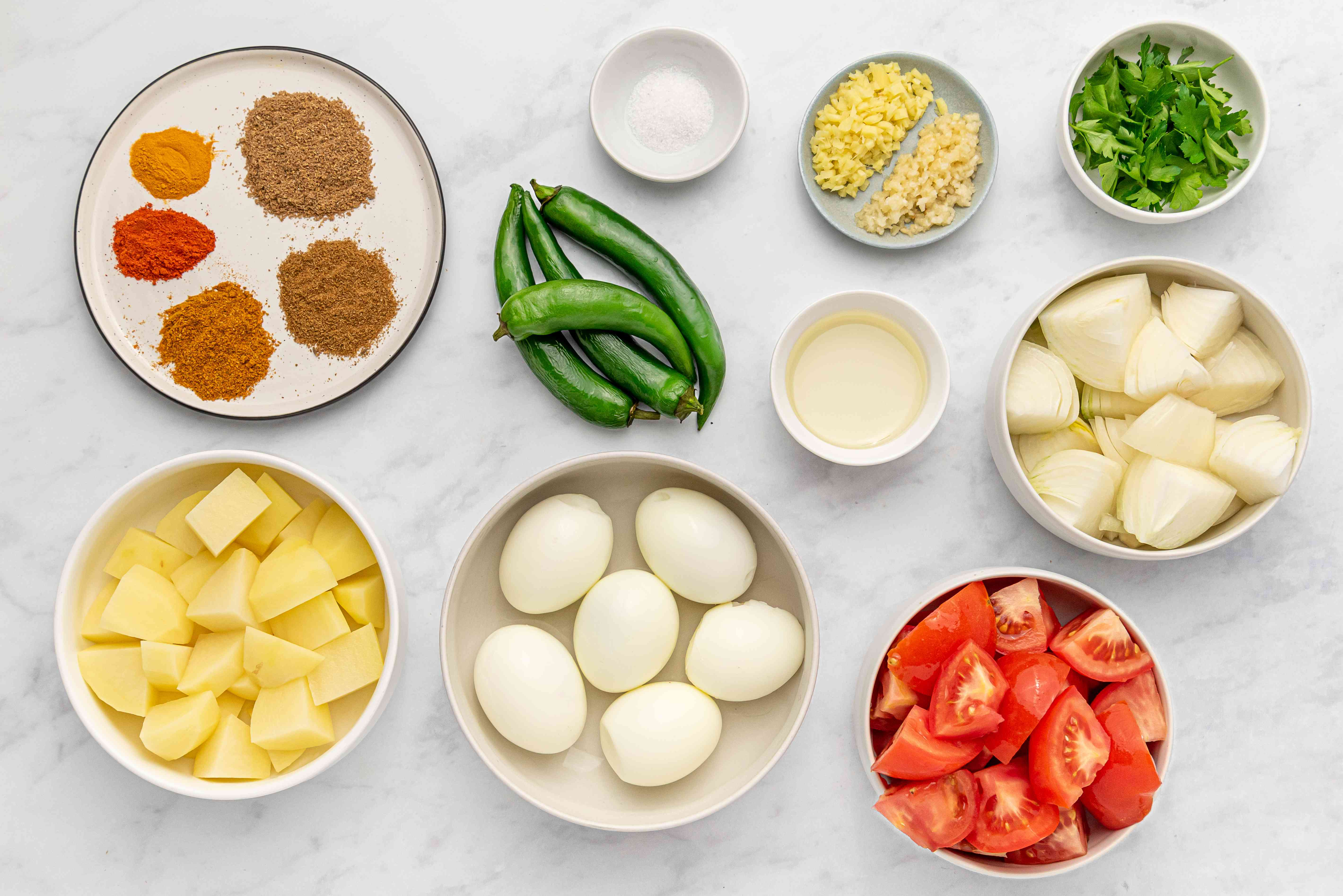 Egg Curry (Andey Ki Curry) ingredients