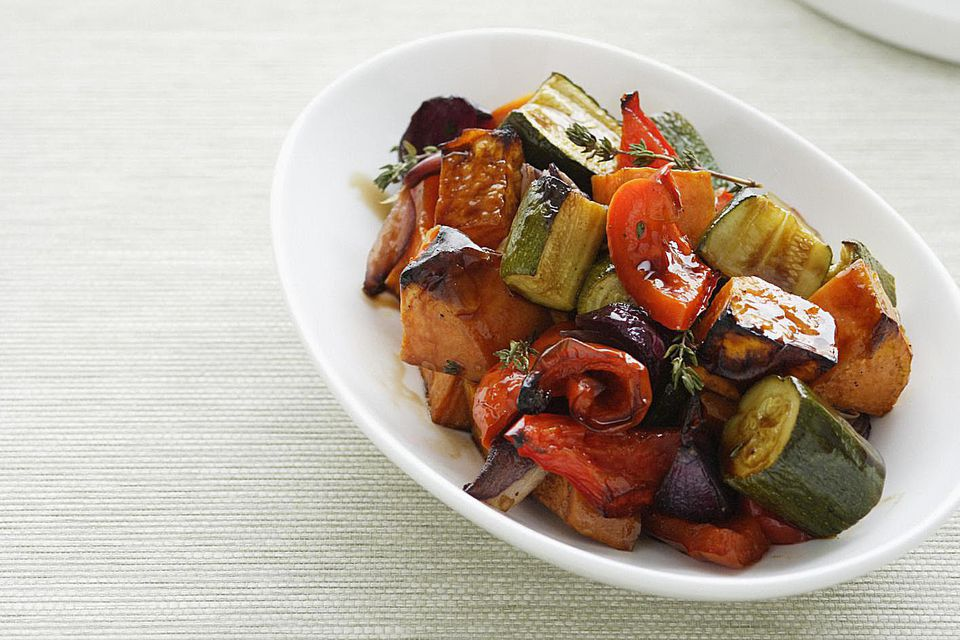 Roasted Peppers and Zucchini