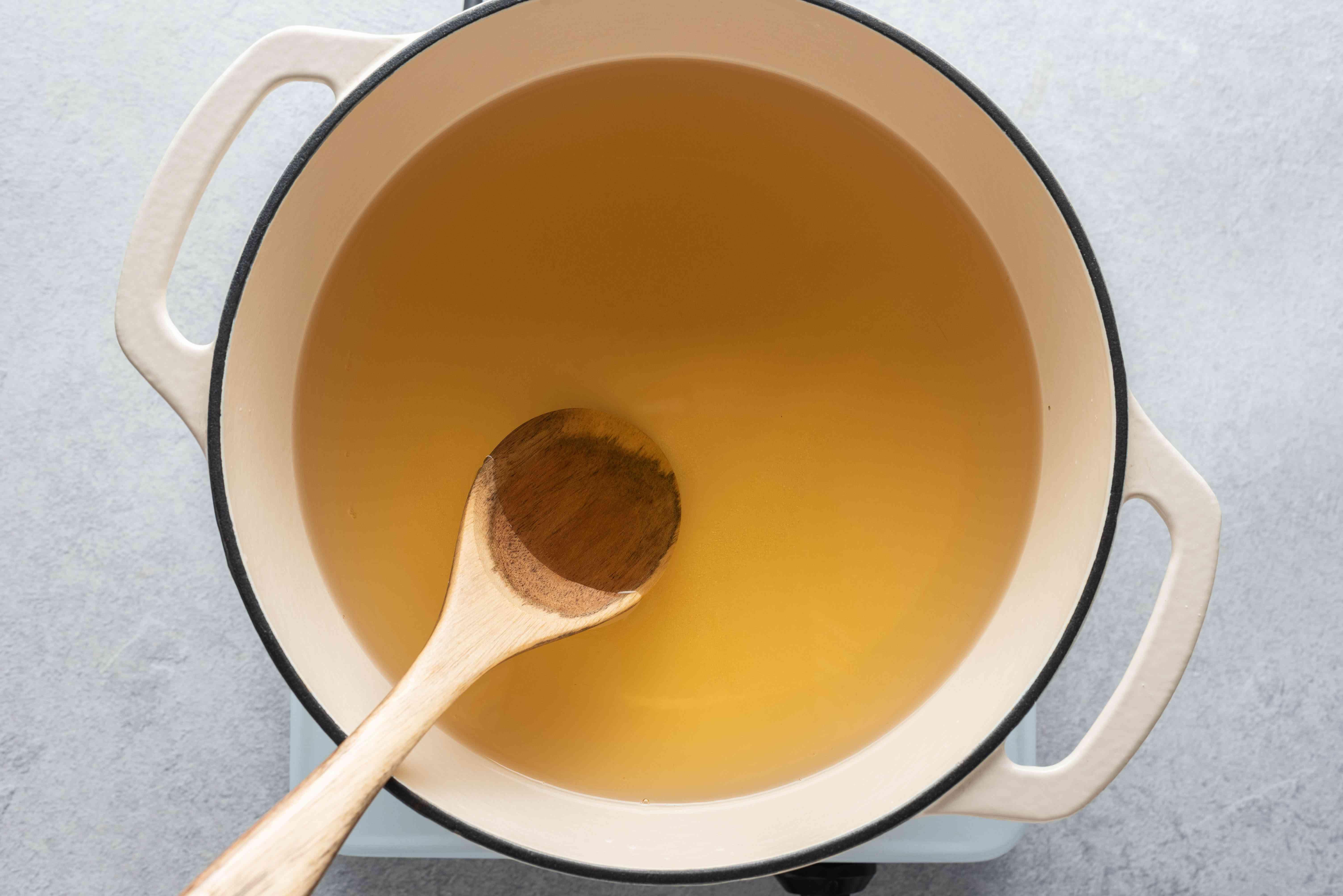 water, vinegar, sugar and salt in a pot