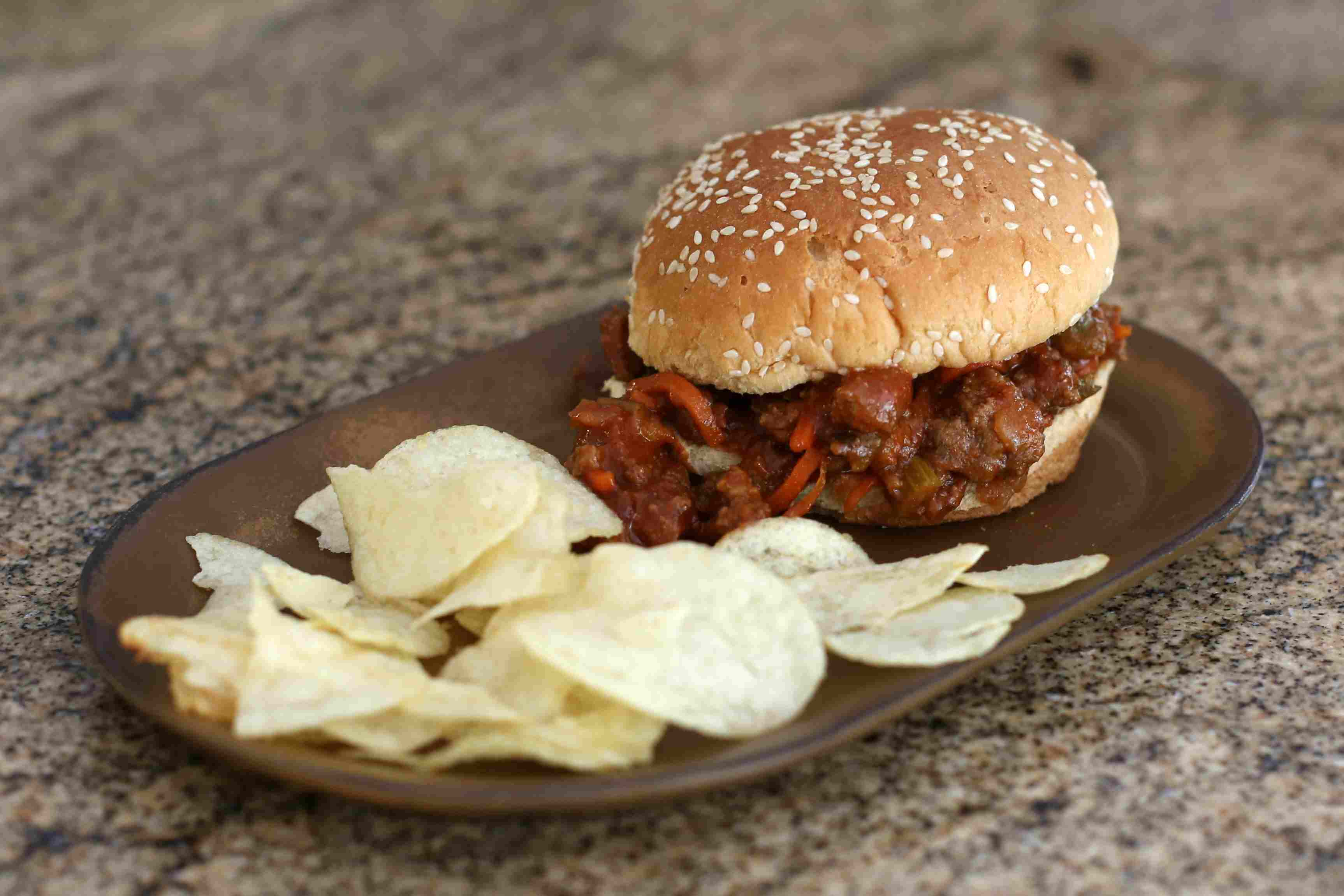 Sloppy Joes with barbecue flavor