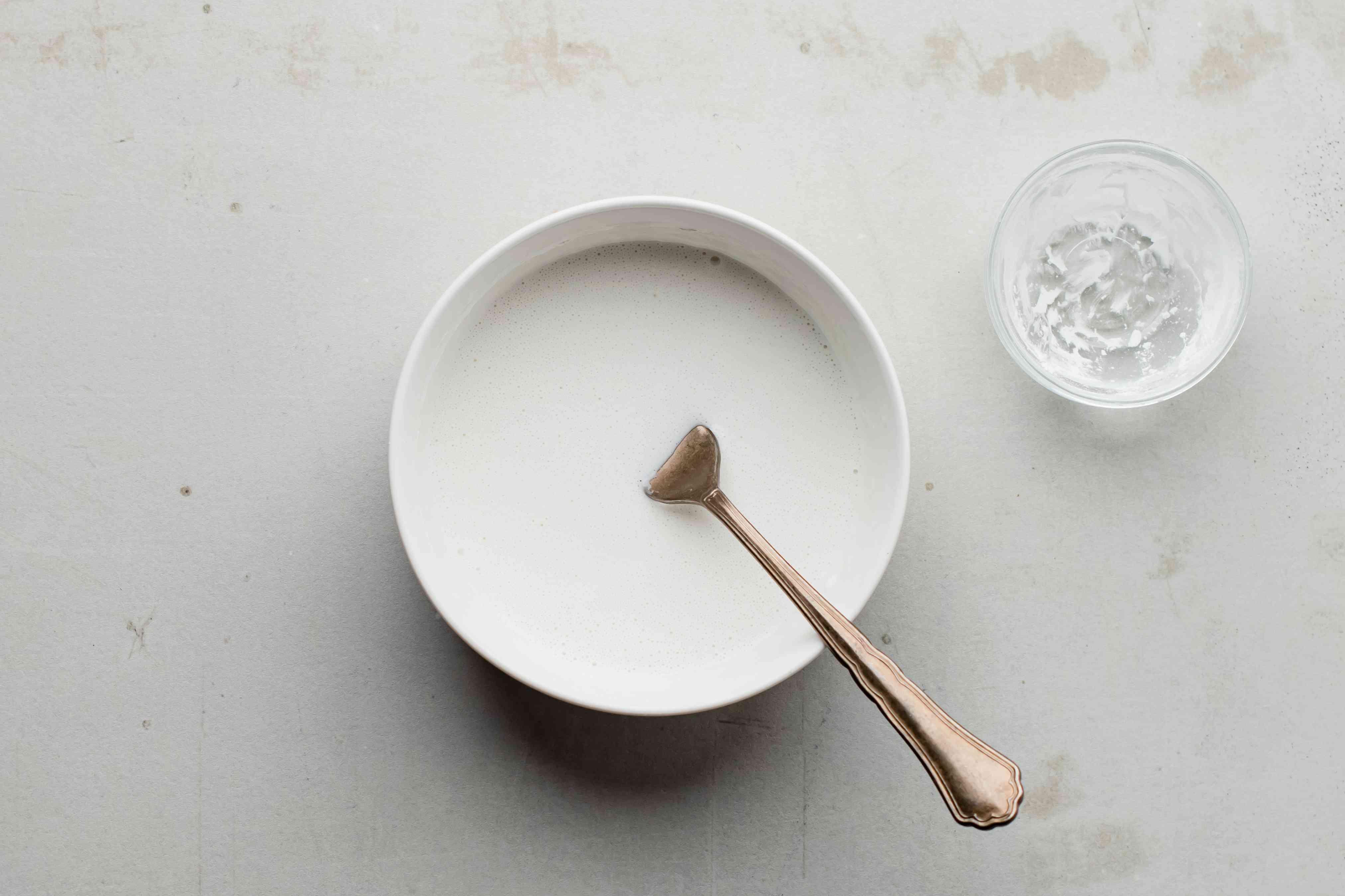 Pour coconut milk