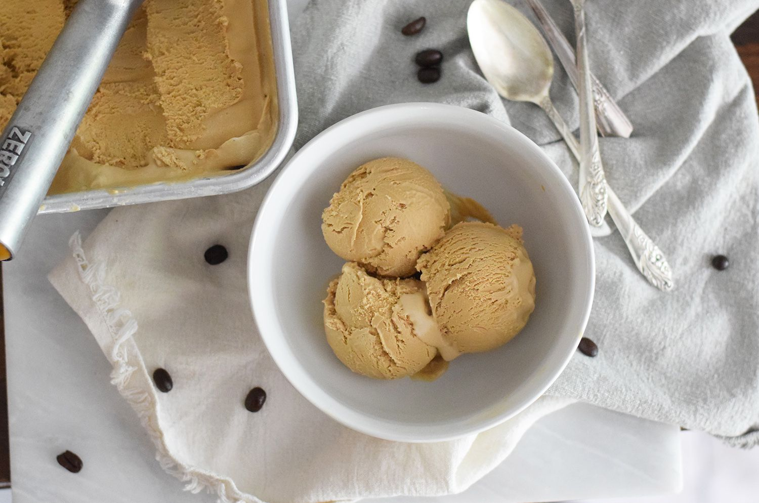Easy, No-Churn Coffee Ice Cream