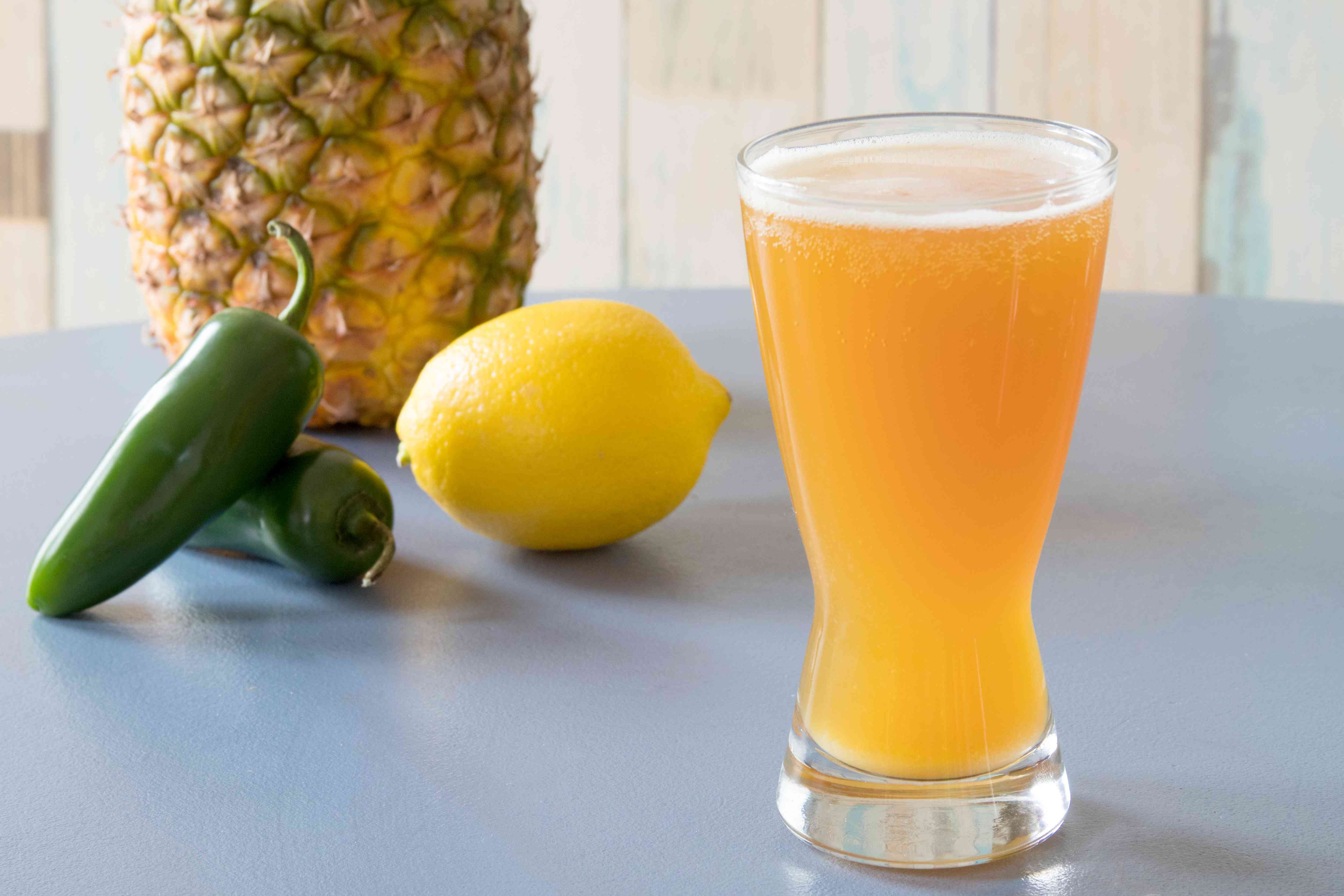 Spicy Pineapple Shandy