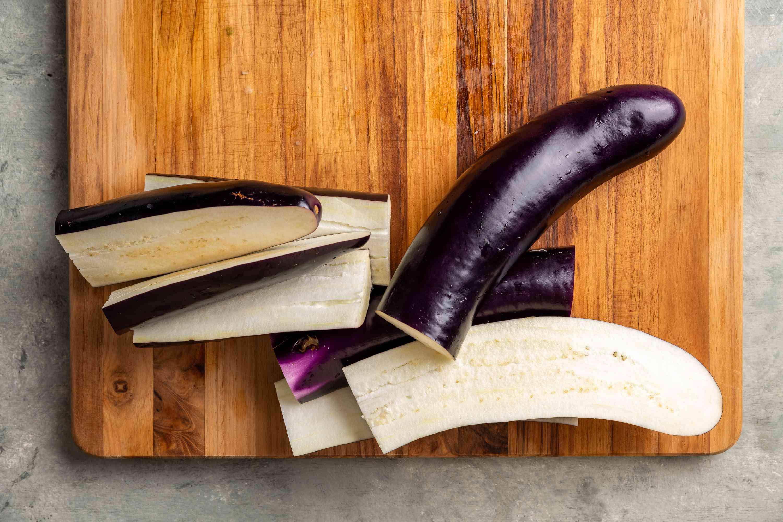 eggplant cut into pieces