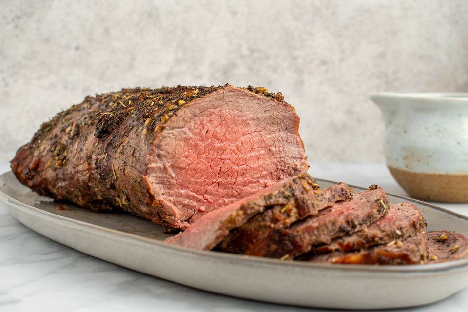 Herb Crusted Beef Top Loin Roast With Pan Gravy