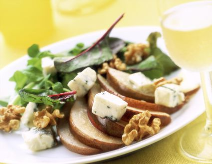 Beet and Pear Salad With Walnuts and Goat Cheese