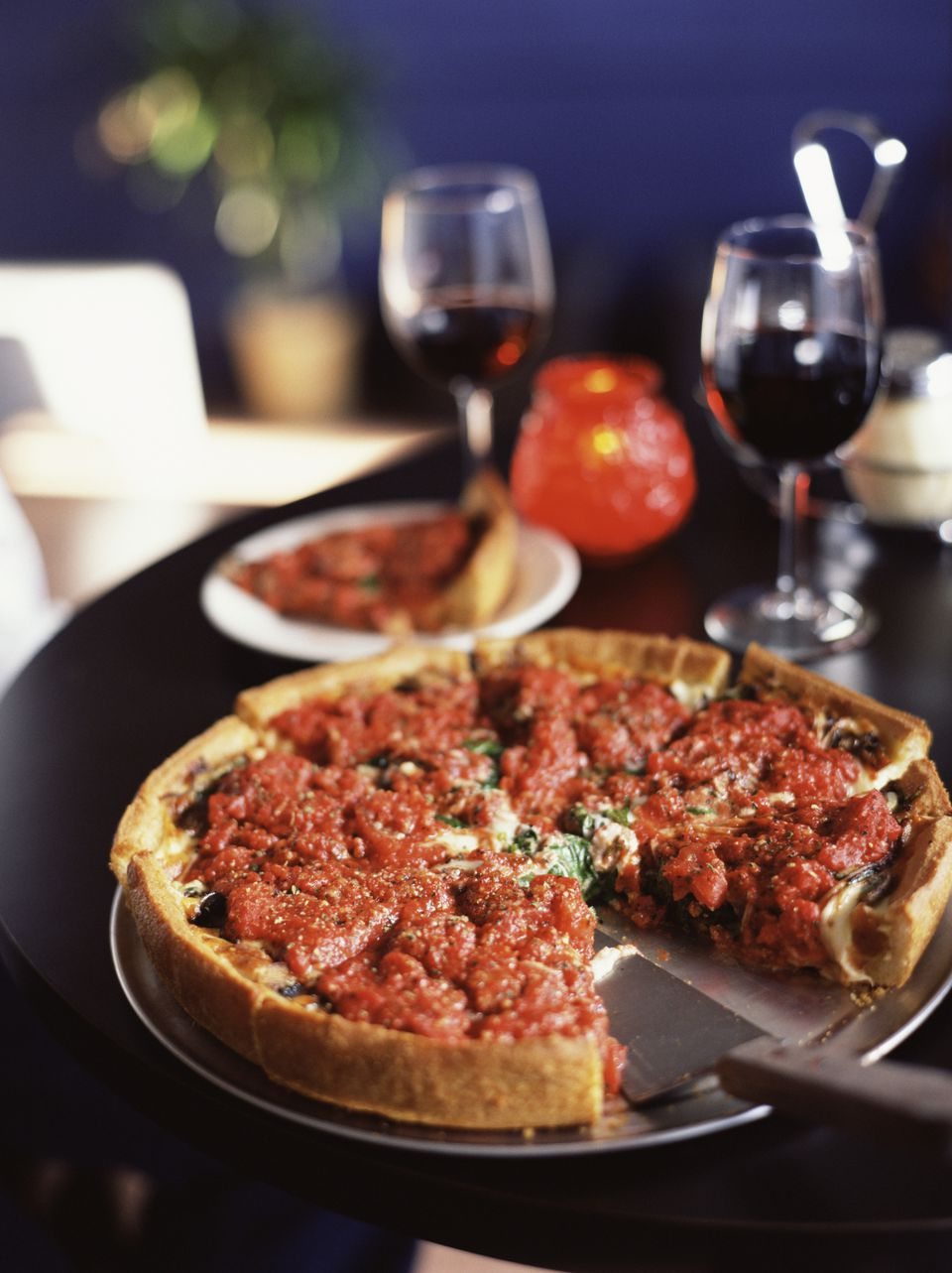Beef deep dish pizza