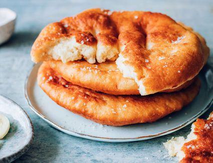 Hungarian Fried Lángos