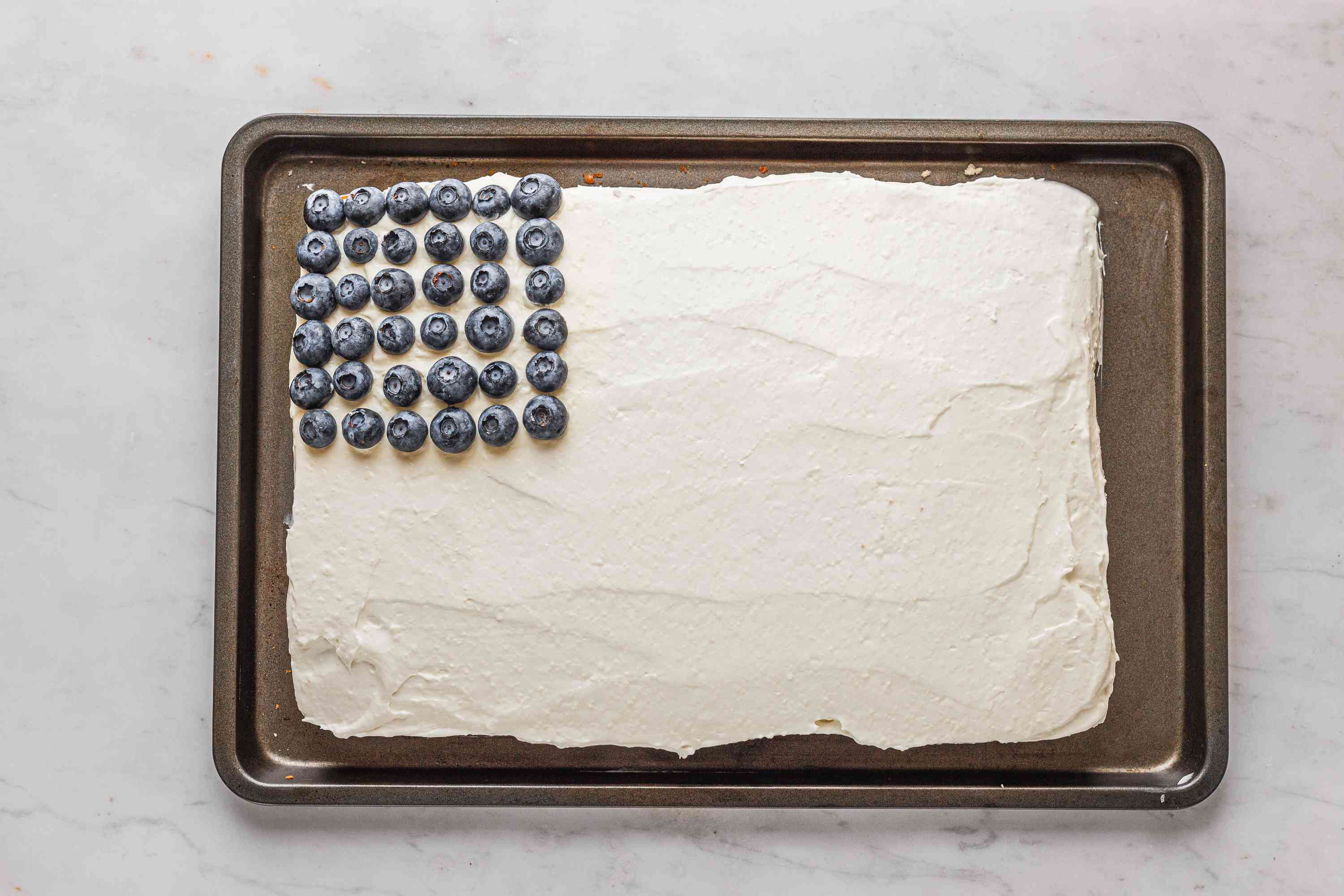 Blueberries on a cake
