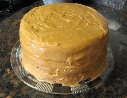 Caramel Frosting on a Kentucky Jam Cake