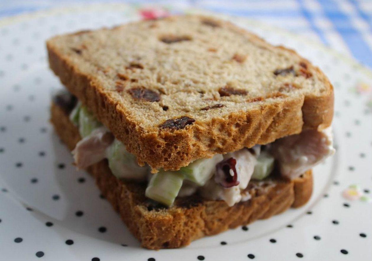 Chicken Waldorf sandwich