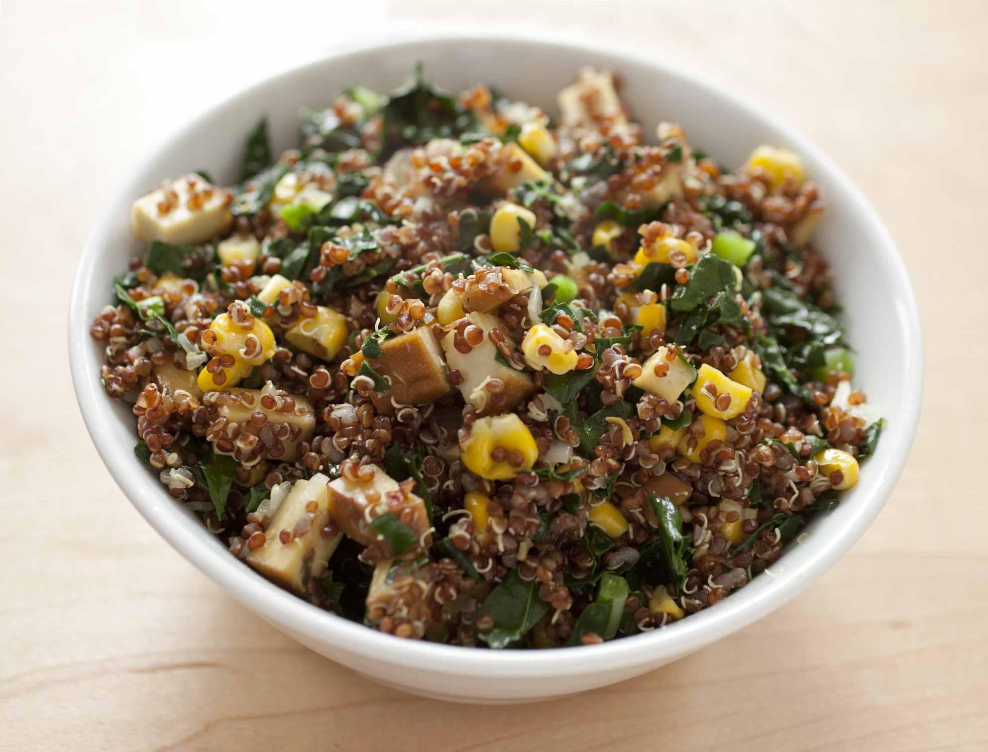 Quinoa Salad in white bowl