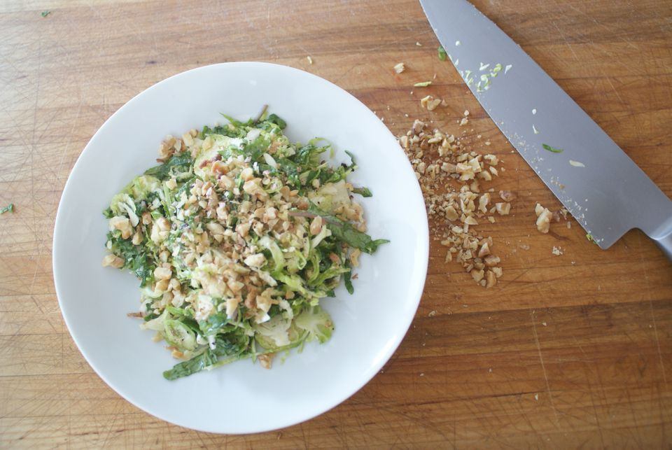 Shaved Brussels Sprouts Salad With Dill