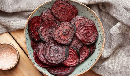Grilled beets in a bowl