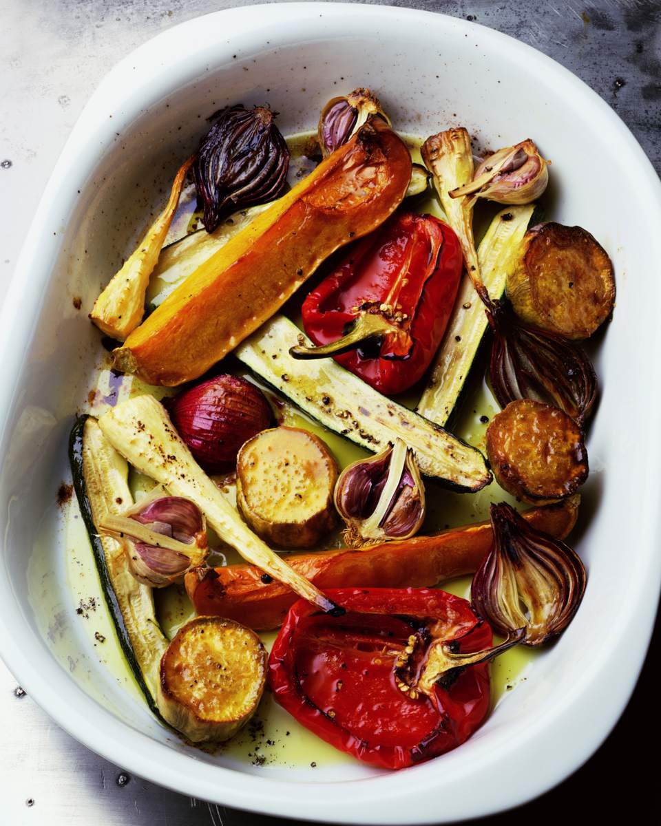 Roasted Vegetables on a platter