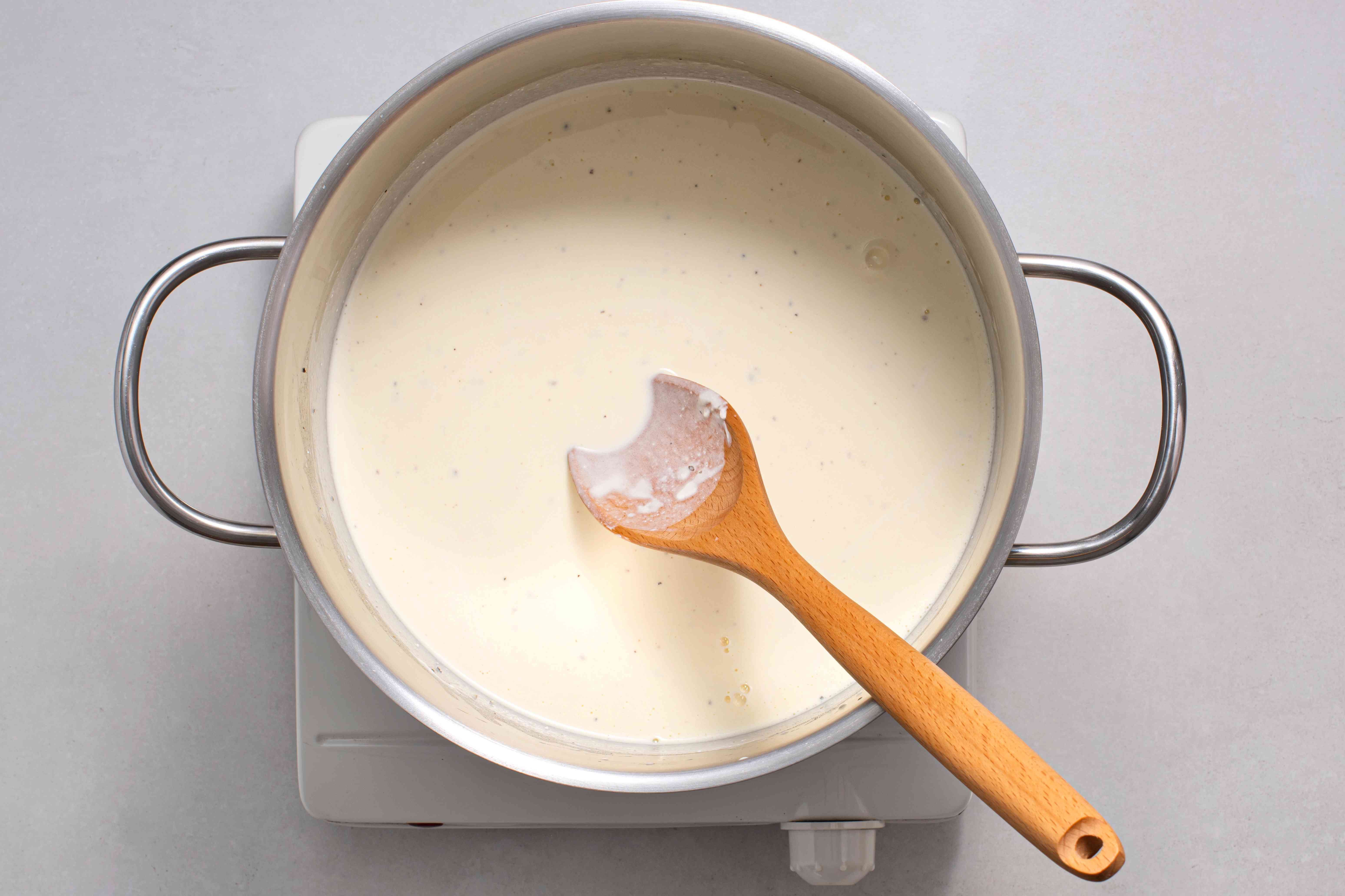 cream mixture in a pot