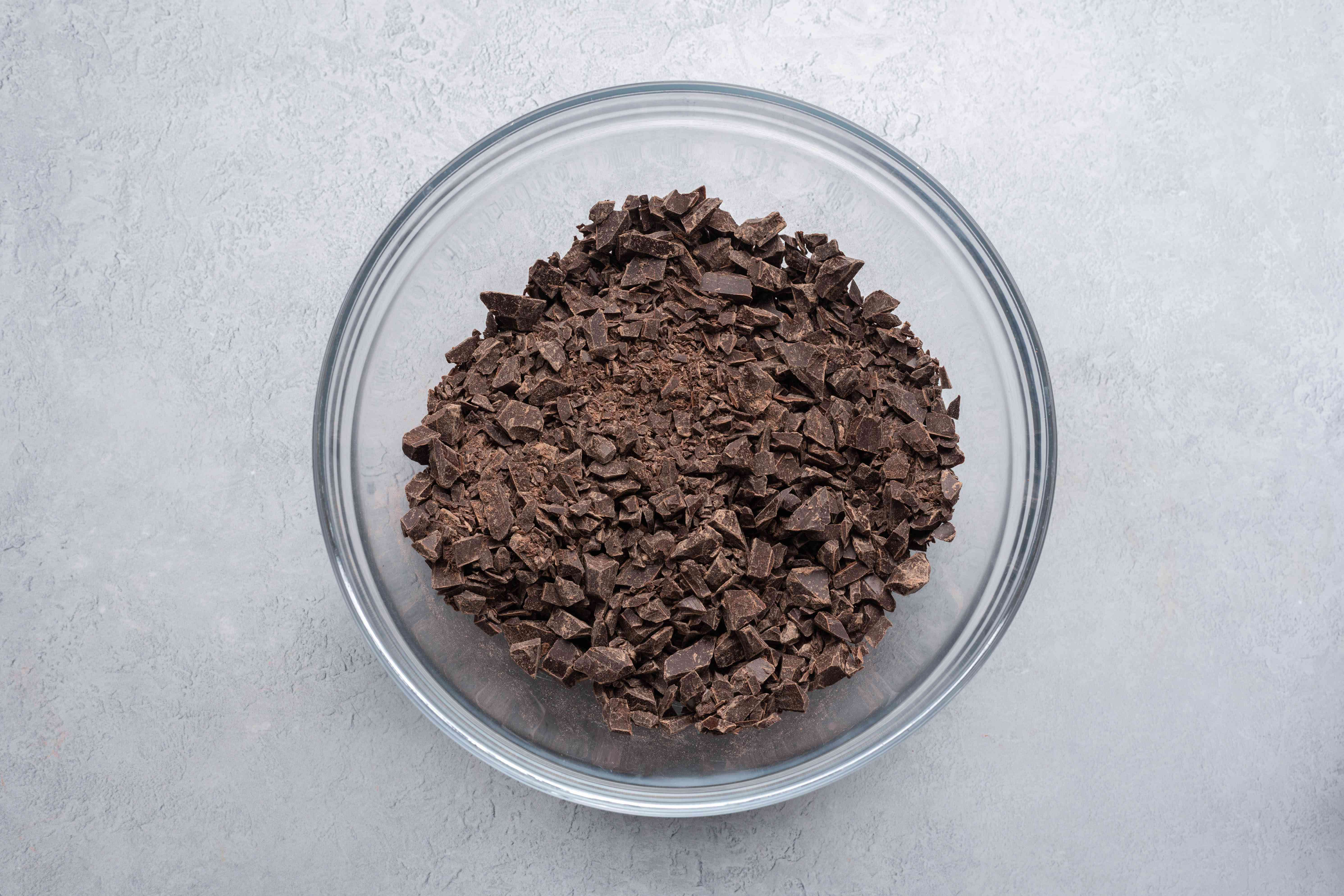 chopped chocolate in a large bowl