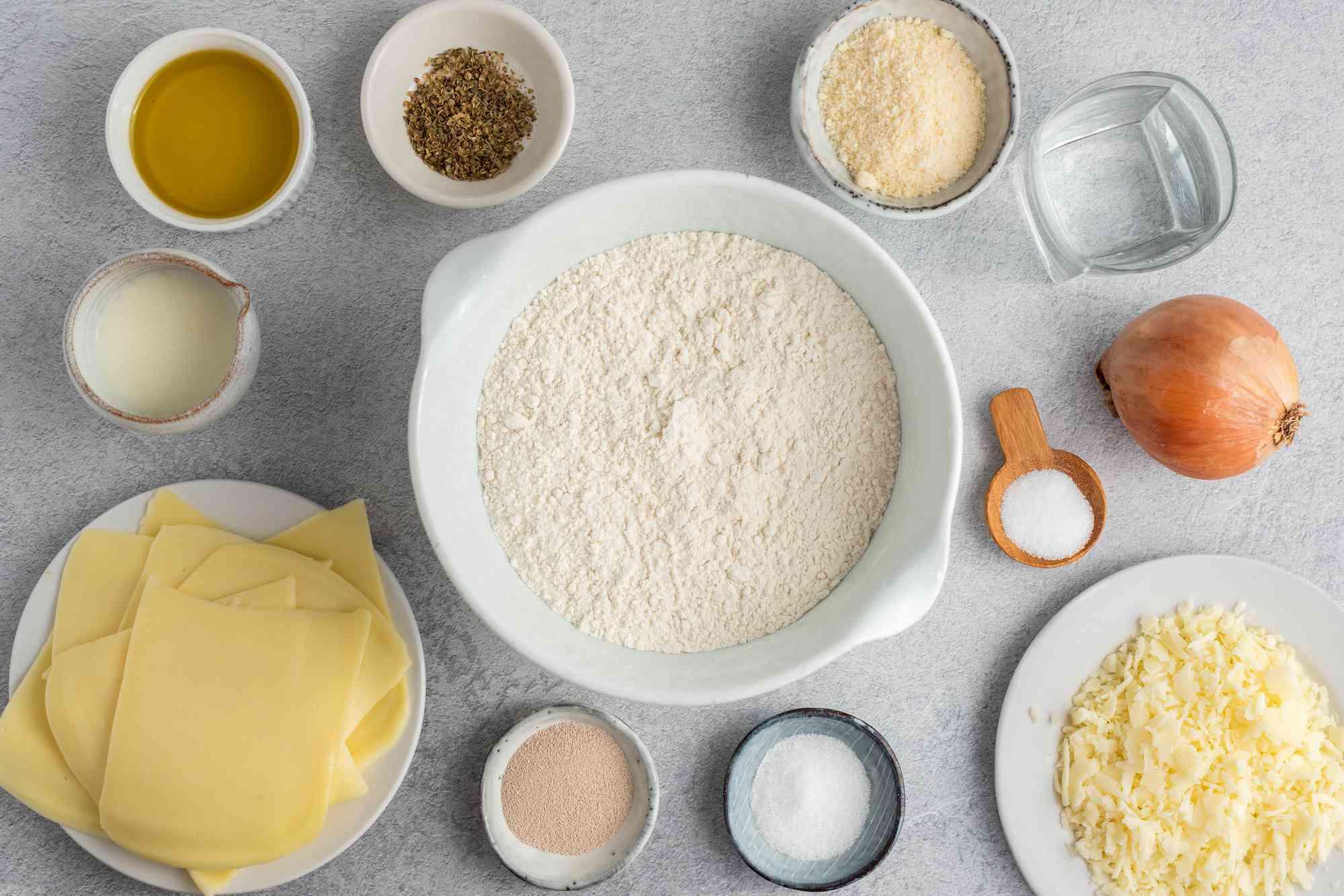 Ingredients for Fugazzeta