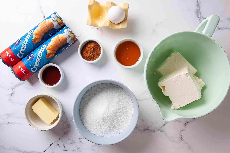 Sopapilla Cheesecake ingredients