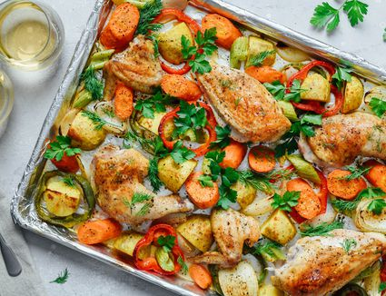 One-Pan Baked Chicken Dinner