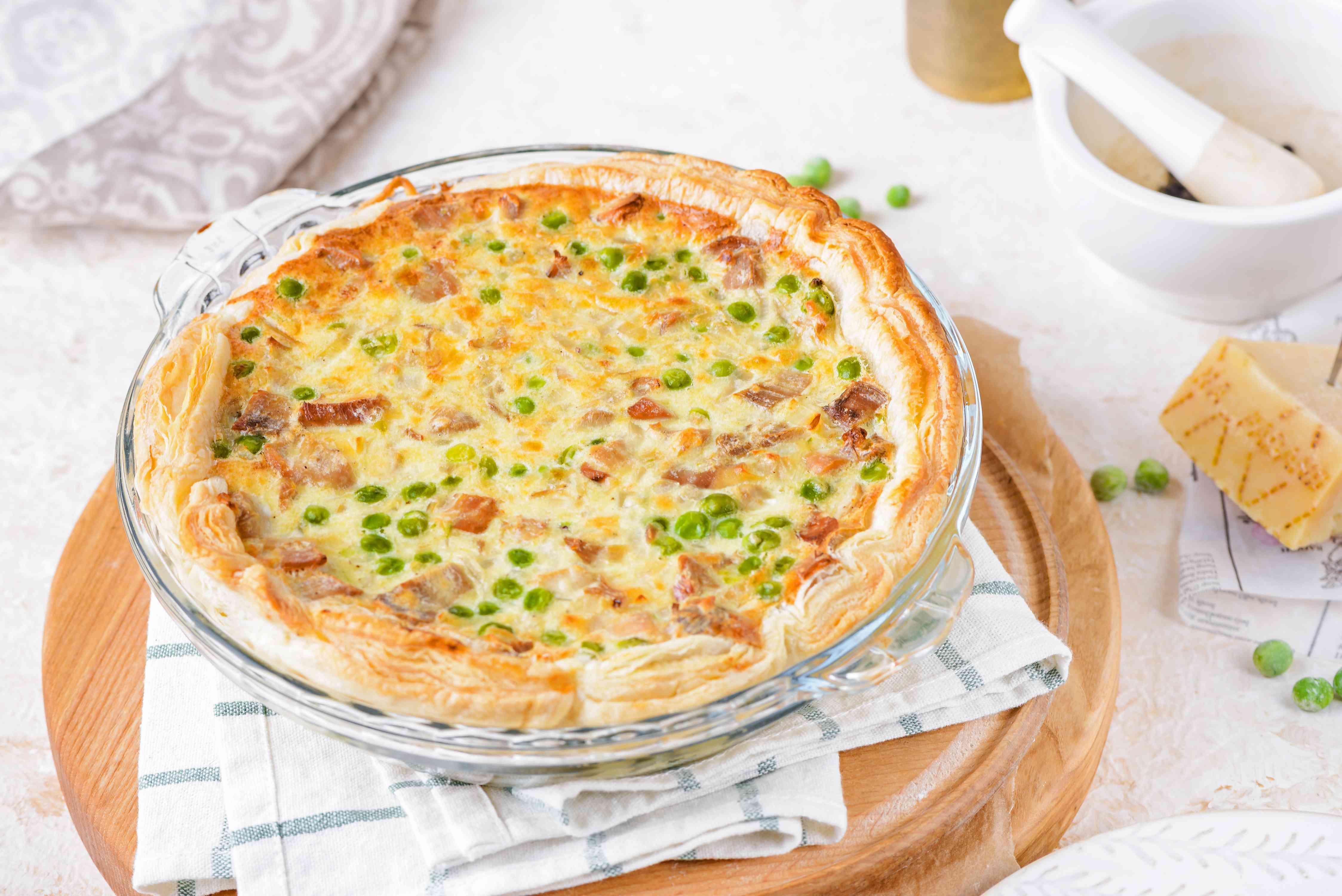 Savory turkey parmesan tart recipe