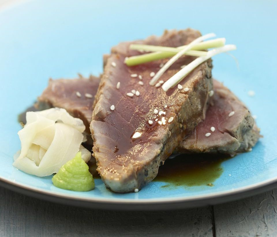 Seared Tuna in Wasabi Sauce