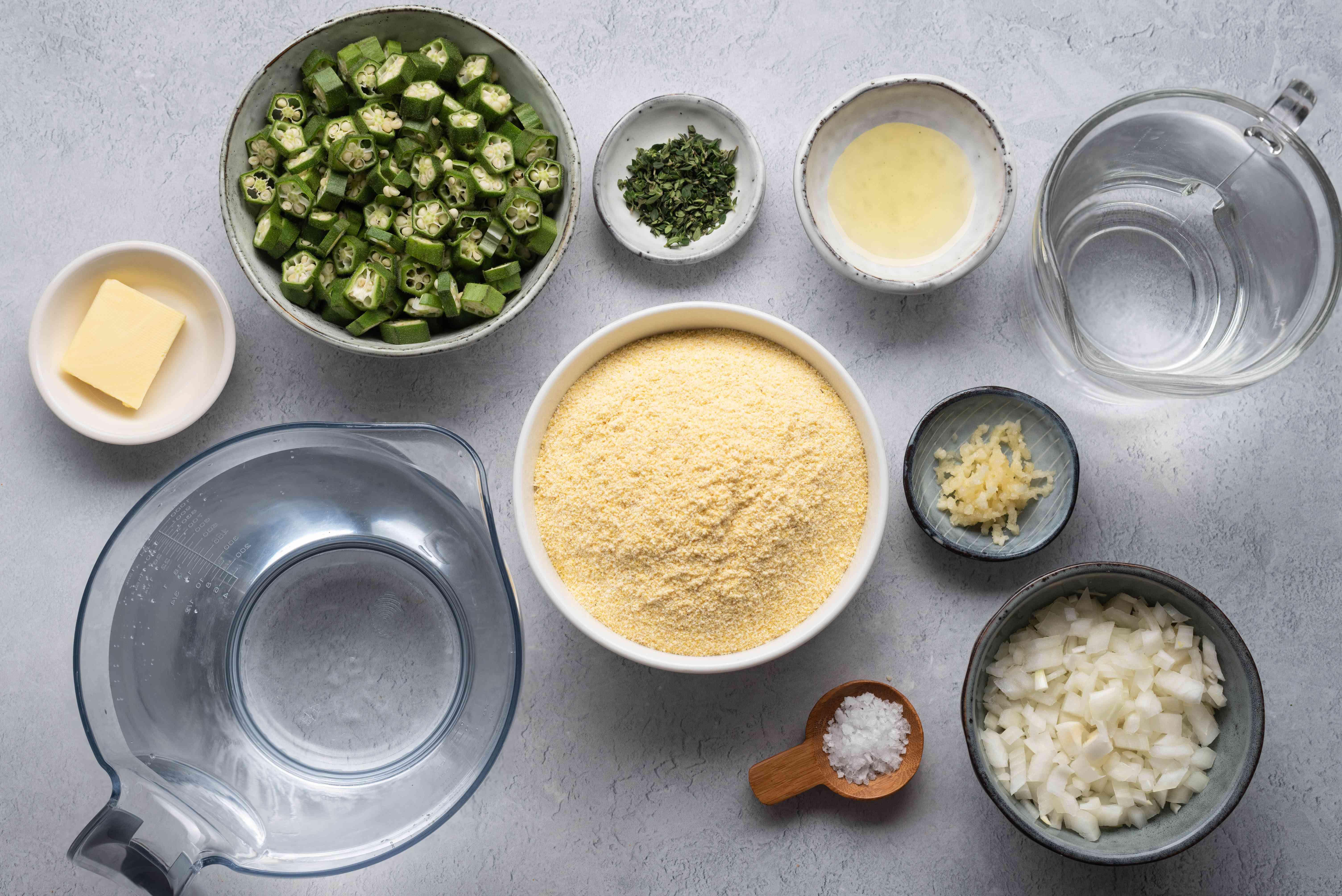 Caribbean Cornmeal Cou-Cou ingredients