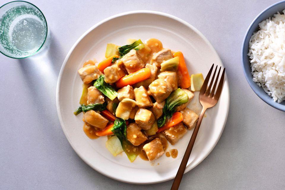 Chinese Orange Pork Chop Stir-fry