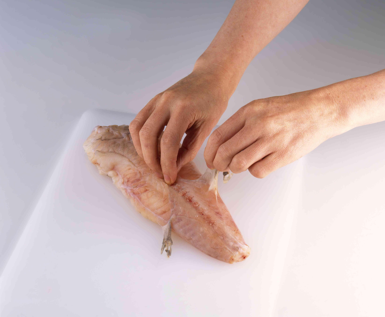 Removing the monkfish membrane