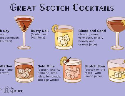 illustration of scotch cocktails