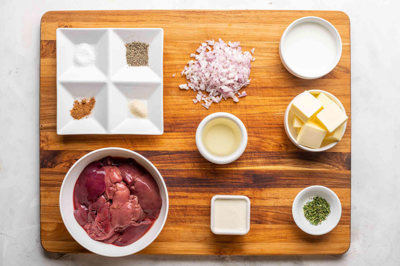Chicken Liver Mousse ingredients