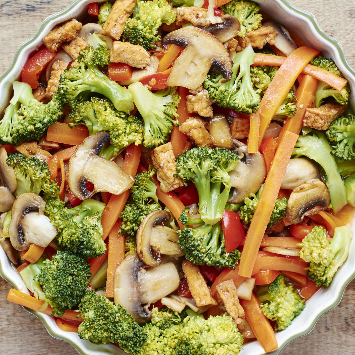 Thai Vegetable Stir Fry With Tofu Recipe