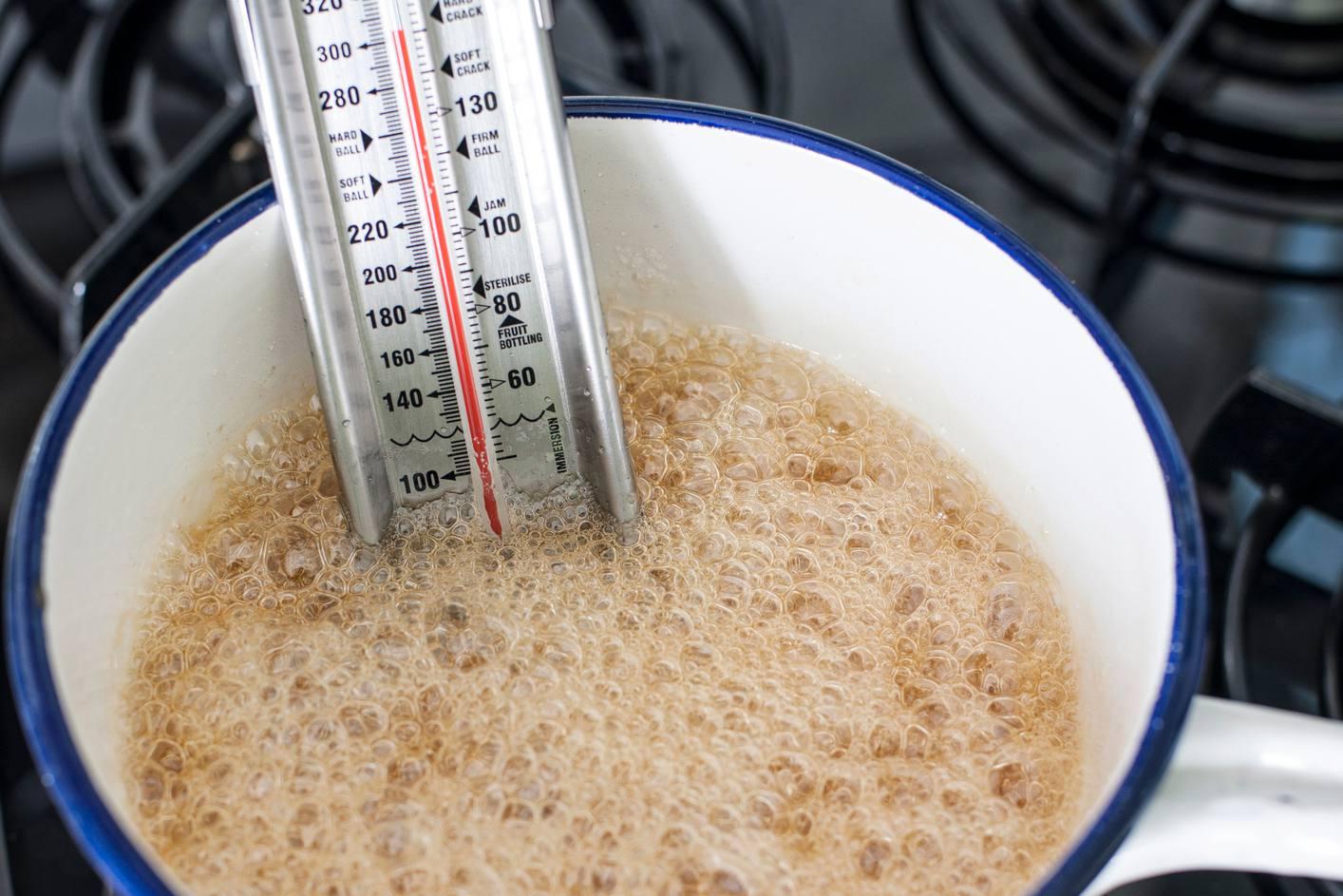 Syrup temperature