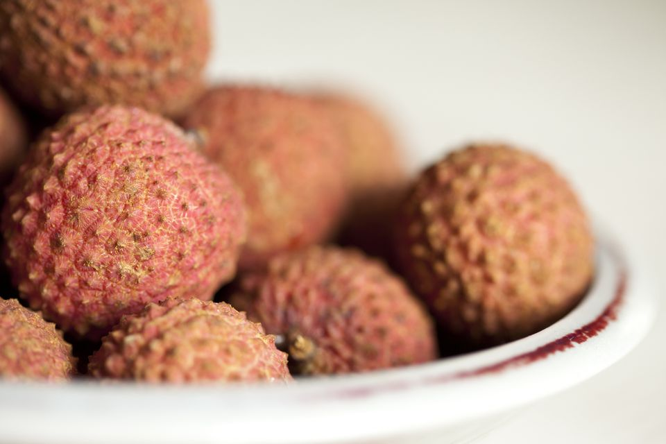 Ripe lychees