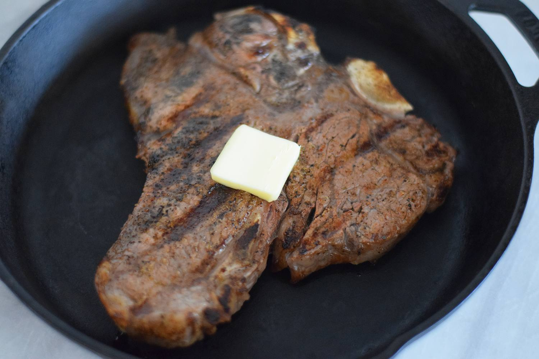 Butter on steak