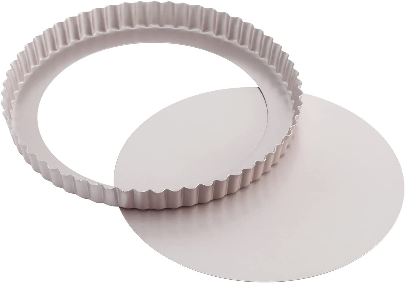 CHEFMADE 9.5-Inch Round Tart Pan with Removable Loose Bottom