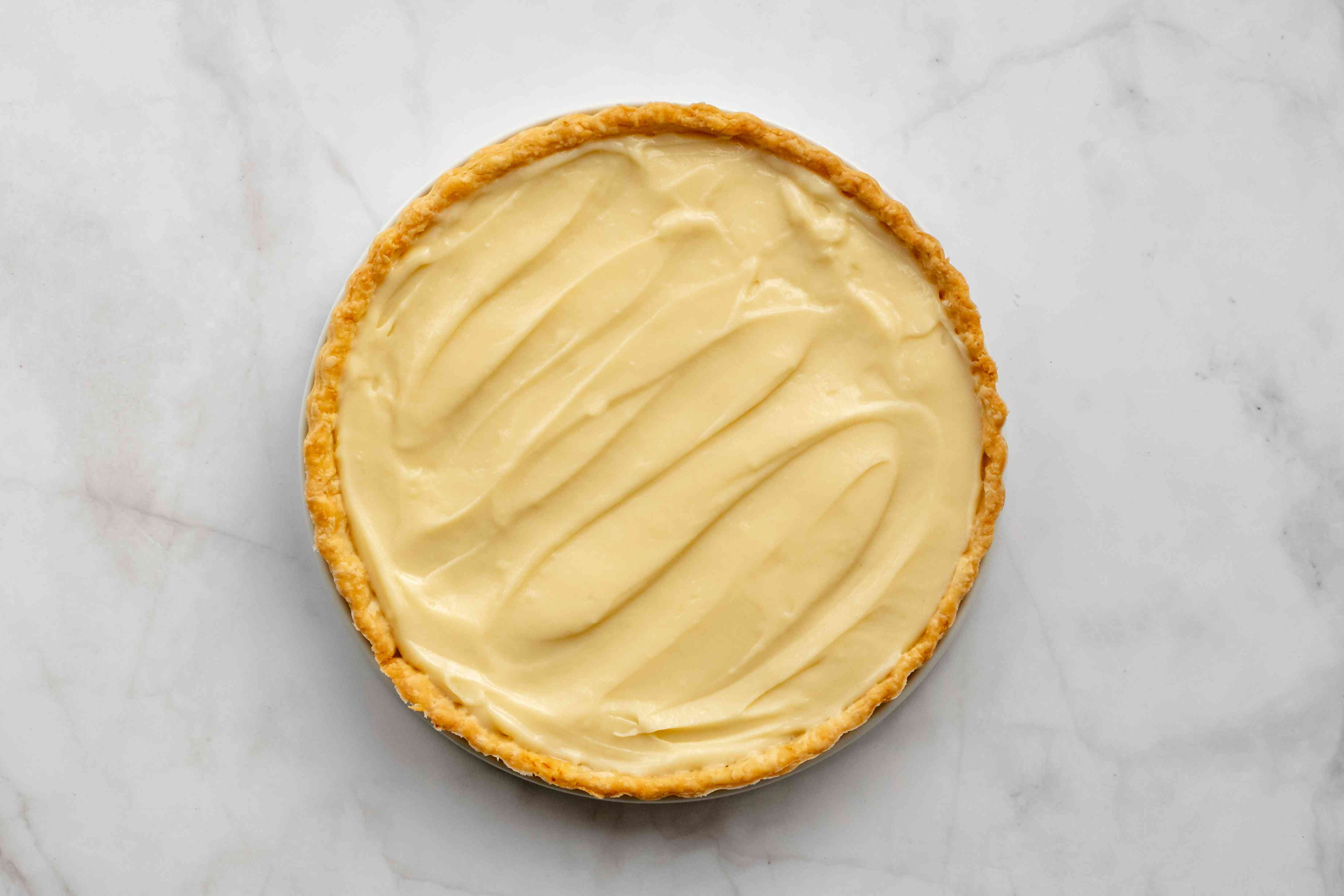 custard inside of tart crust