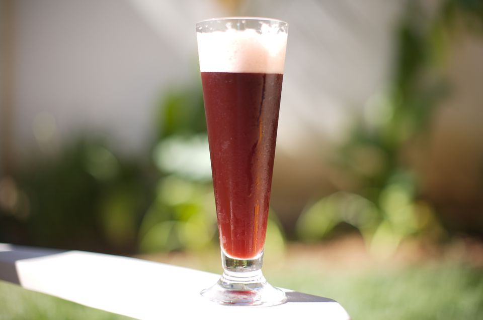 Raspberry Snakebite - Vanilla Porter, Hard Cider, and Fresh Raspberry Beertail