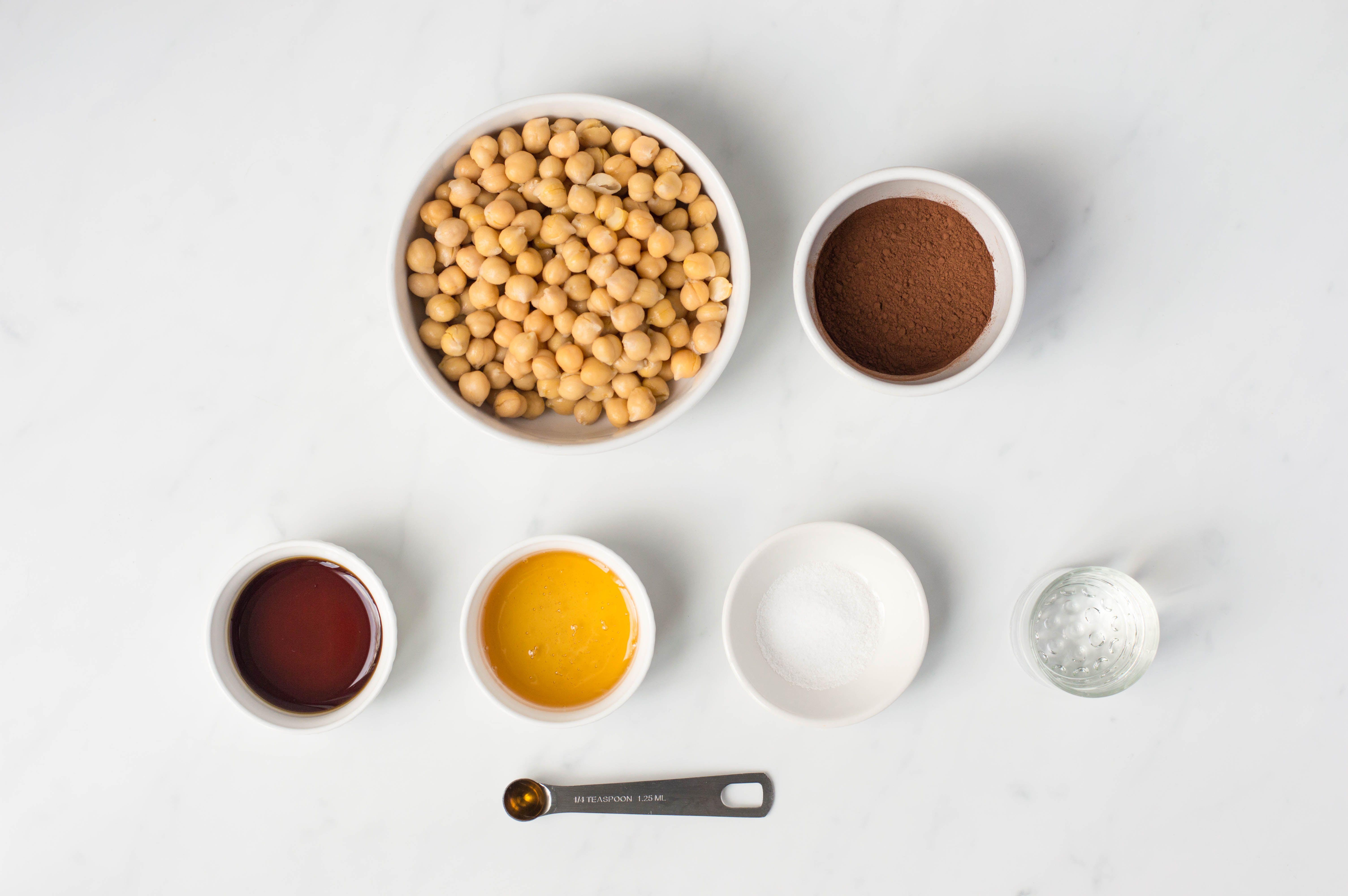Chocolate hummus ingredients