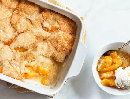 Easy Gluten-Free Peach Cobbler
