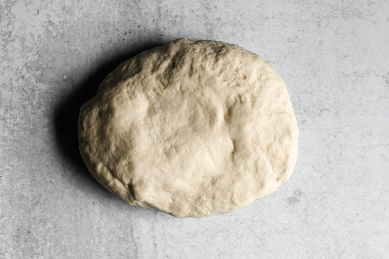 dough on a counter
