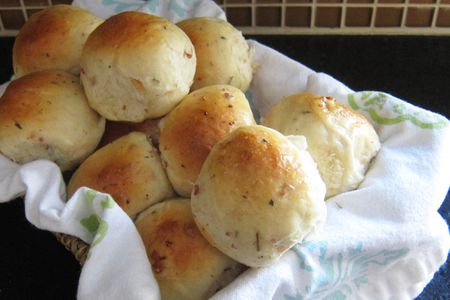Savory Herb And Bacon Yeast Rolls Recipe