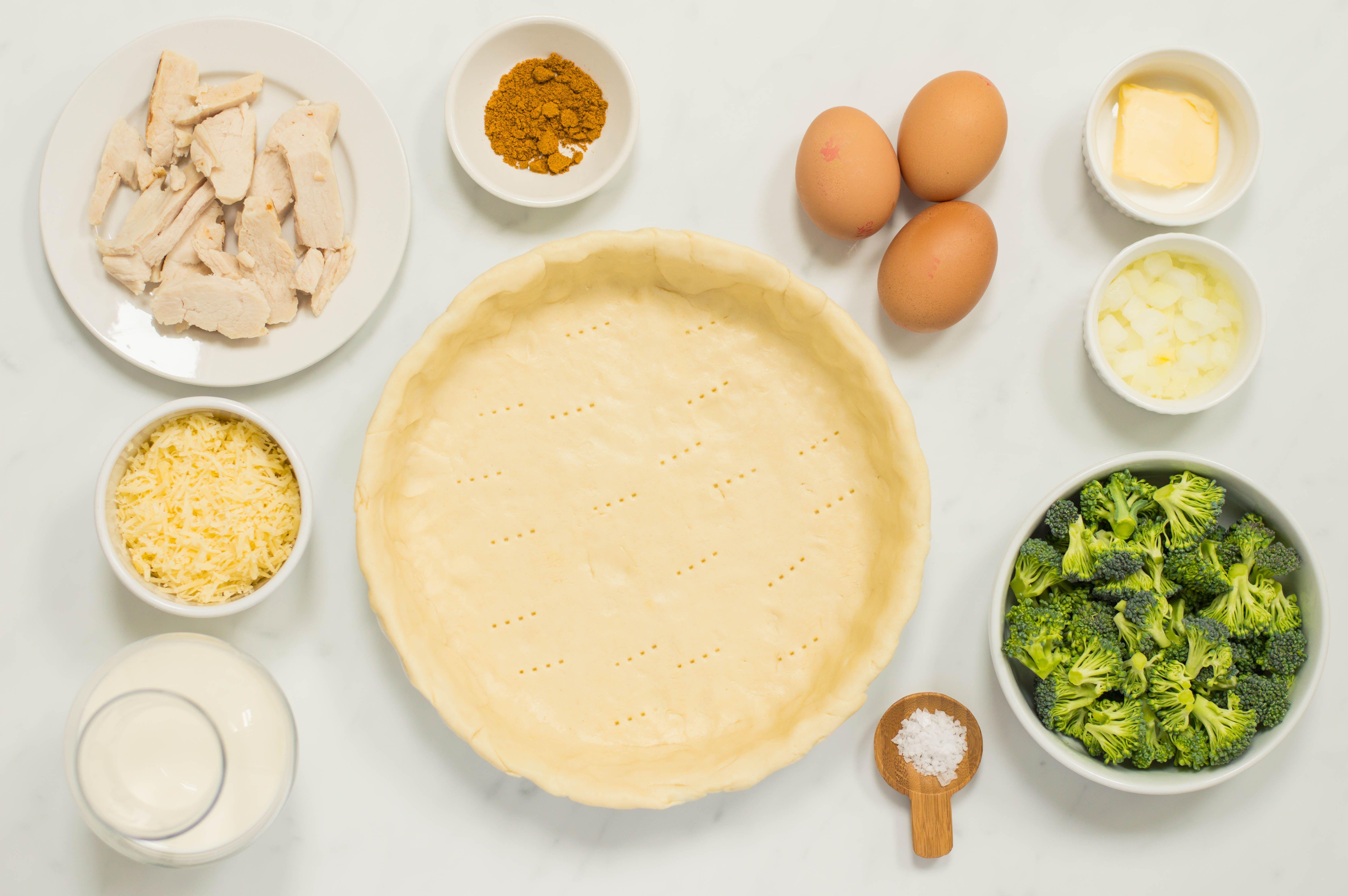Turkey and Broccoli Quiche Recipe ingredients