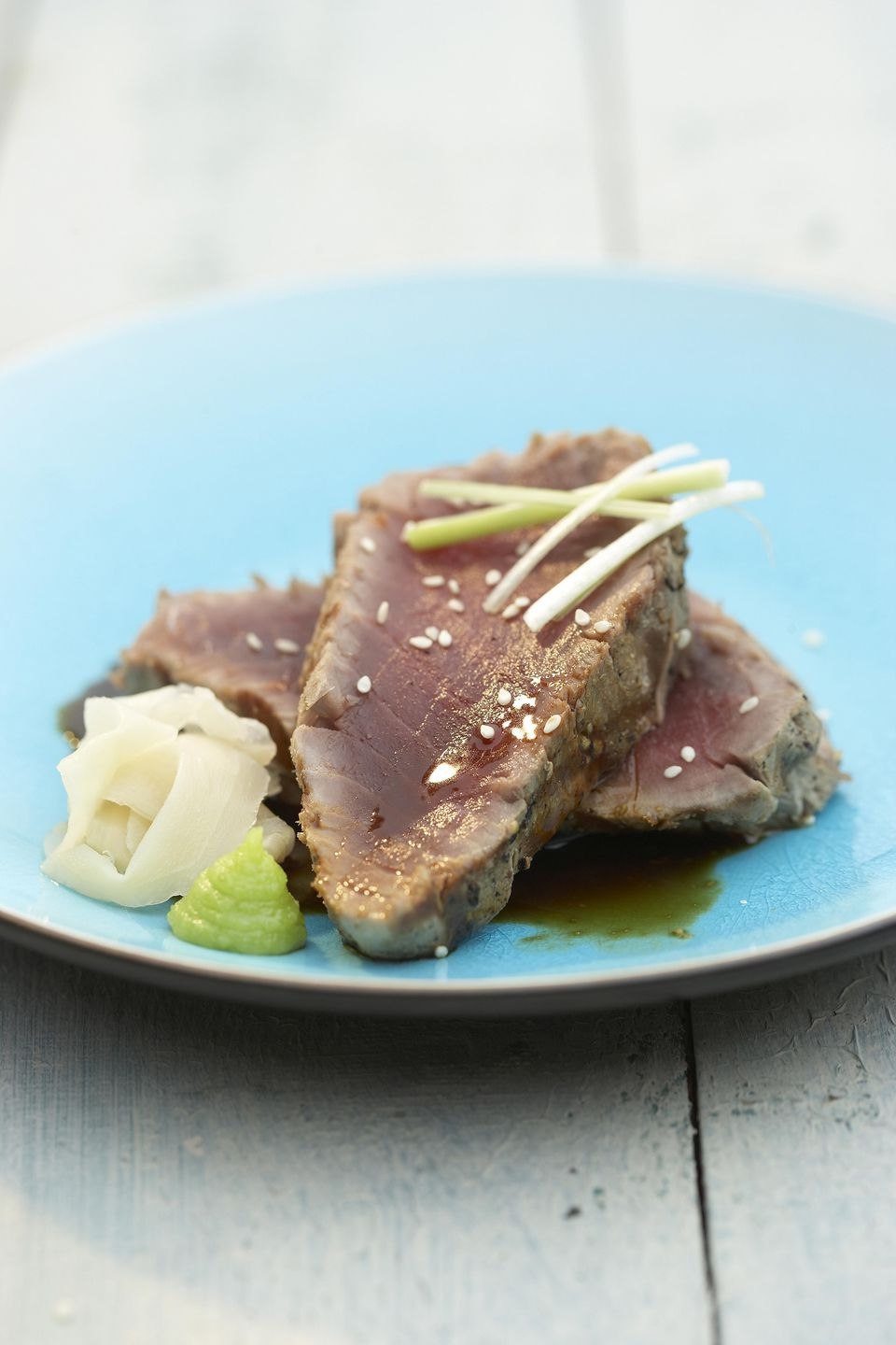 Seared Tuna in Wasabi Sauce